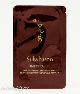 Sulwhasoo Timetreasure Extra Creamy Cleansing Foam EX 4мл