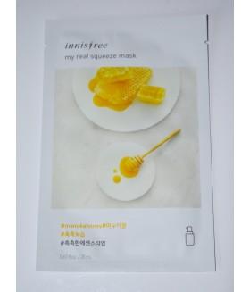 Тканевая маска Innisfree Real Squeeze Manuka Honey (с экстрактом меда)