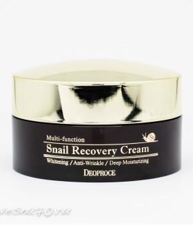 Deoporce Snail Recovery Cream восстанавливающий антивозрастной крем с муцином улитки 100гр