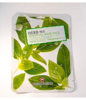 Маска тканевая MARIANNE HOPPE Herb Essential Mask Pack 21гр+2гр