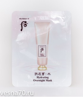 The History Of Whoo Hydrating Overnight Mask ночная увлажняющая маска 4мл