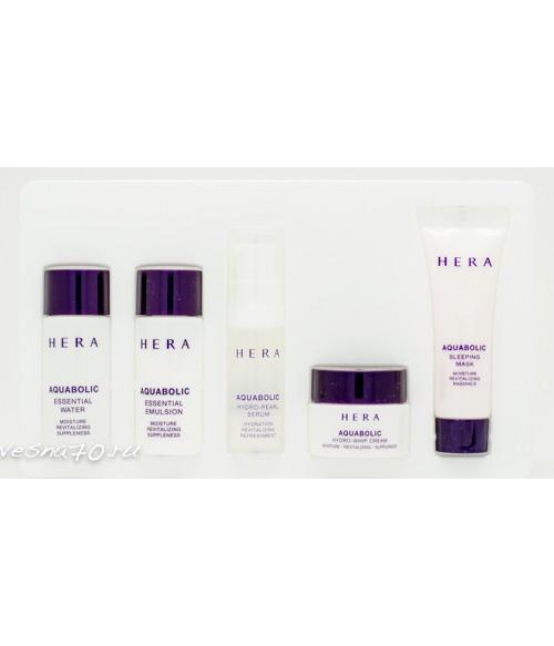 Hera Aquabolic Simple Set набор из 5 увлажняющих средств (с ночной маской)