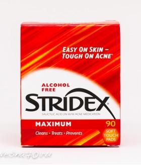 Одношаговое средство от угрей Stridex максимальная сила, без спирта 90шт