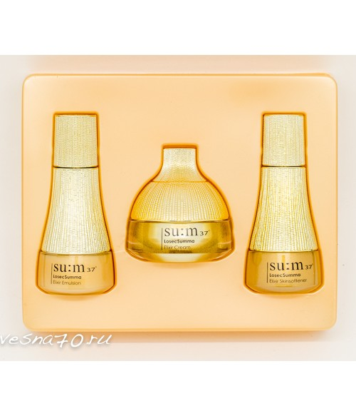 Su:m37 LosecSumma Elixir set набор из 3 средств (softner+emulsion+cream)