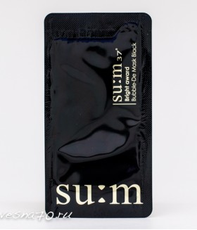 Su:m37 White Award Bubble De Mask Black 4мл